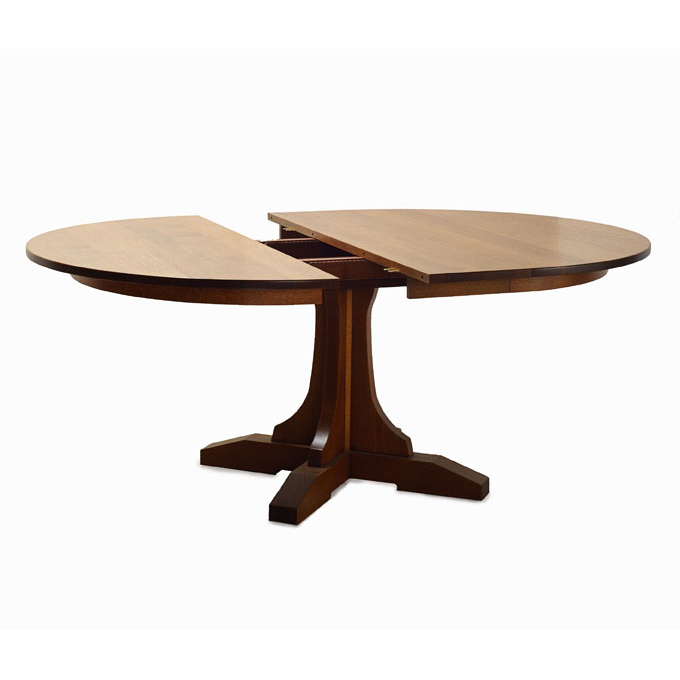 Fixed Pedestal Table with Leaves
